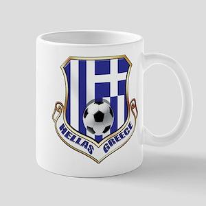 Greek Soccer Shield 11 oz Ceramic Mug