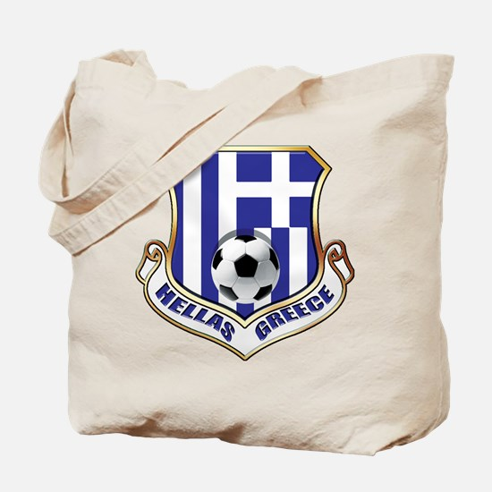 Greek Soccer Shield Tote Bag