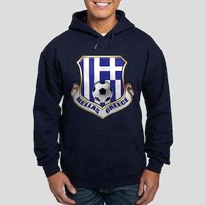 Greek Soccer Shield Hoodie (dark)