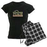 logo_final_peach_outlines Women's Dark Pajamas