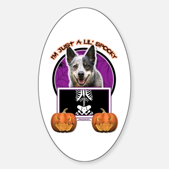 Halloween Just a Lil Spooky Cattle Dog Decal