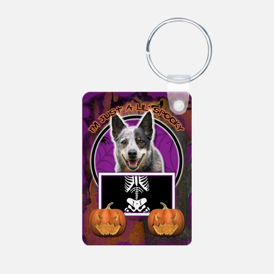 Halloween Just a Lil Spooky Cattle Dog Keychains