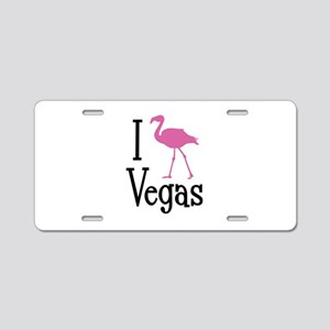 I Love Vegas Aluminum License Plate