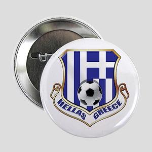 "Greek Soccer Shield 2.25"" Button"