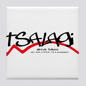 Tsalagi Black Tile Coaster
