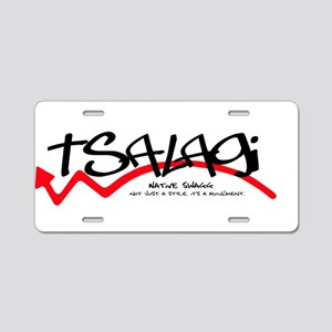 Tsalagi Black Aluminum License Plate