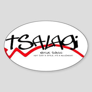 Tsalagi Black Sticker (Oval)