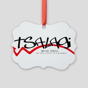 Tsalagi Black Picture Ornament