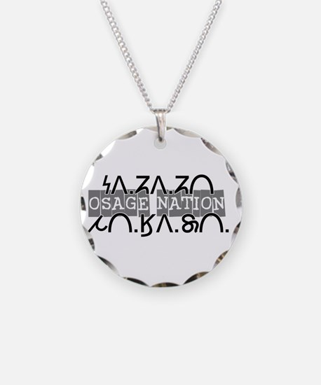 osage nation black.png Necklace Circle Charm