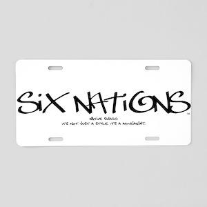 Six NationsBLACK Aluminum License Plate
