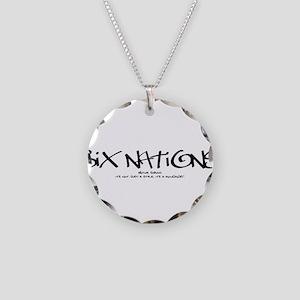Six NationsBLACK Necklace Circle Charm