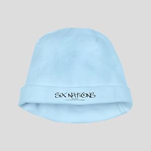 Six NationsBLACK baby hat