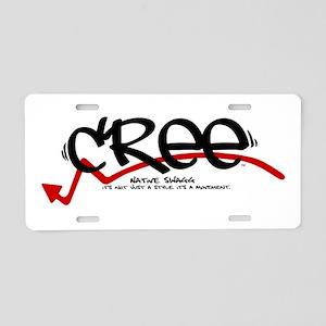 cree black Aluminum License Plate