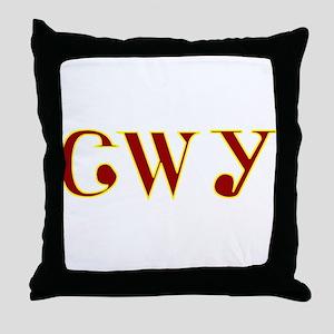 Tsalagi maroon yellow Throw Pillow