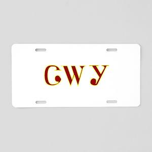 Tsalagi maroon yellow Aluminum License Plate