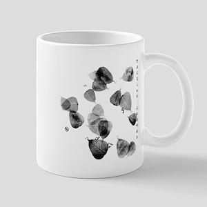 talking leaves for black Mug