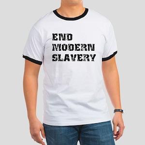 End Modern Slavery Ringer T