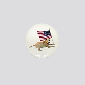American Flag Pit Bull Mini Button