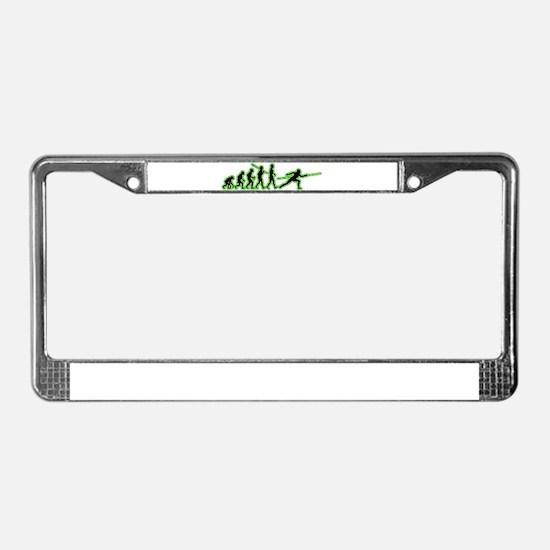Fencing License Plate Frame