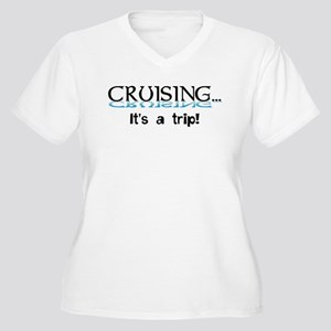 Cruising... its a trip! Women's Plus Size V-Neck T