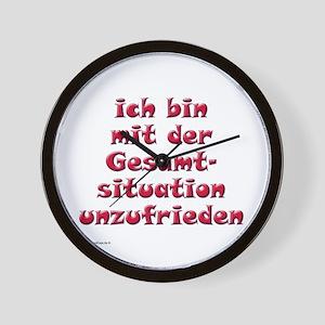 Unzufrieden, red (german) Wall Clock