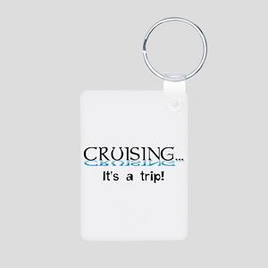 Cruising... its a trip! Aluminum Photo Keychain