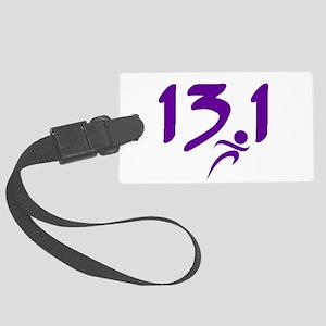 Purple 13.1 half-marathon Large Luggage Tag