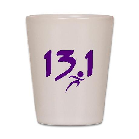Purple 13.1 half-marathon Shot Glass