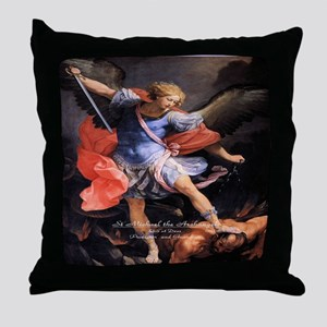 Saint Michael the Archangel Quis ut Deus Throw Pil