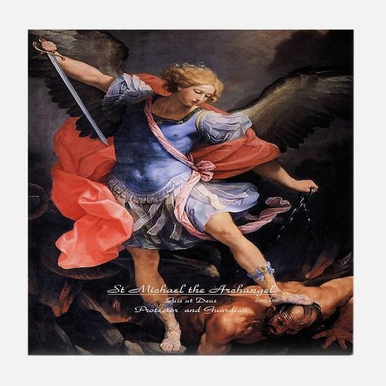 Saint Michael the Archangel Quis ut Deus Tile Coas