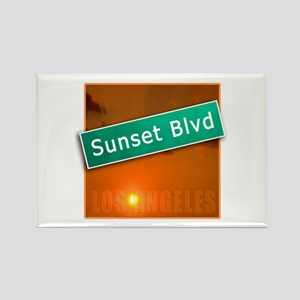 Sunset Boulevard Los Angeles Rectangle Magnet