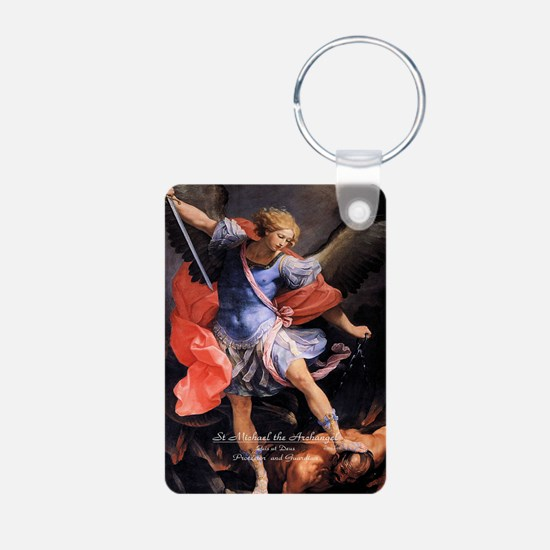 Saint Michael the Archangel Quis ut Deus Keychains