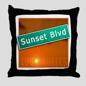 Sunset Boulevard Los Angeles Throw Pillow
