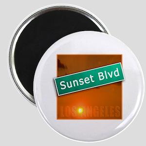 Sunset Boulevard Los Angeles Magnet