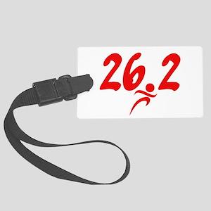 Red 26.2 marathon Large Luggage Tag