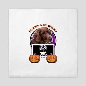 Halloween Just a Lil Spooky Irish Setter Queen Duv