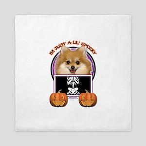 Halloween Just a Lil Spooky Pom Queen Duvet