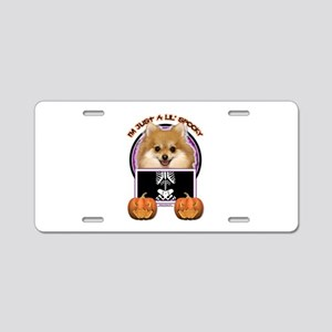 Halloween Just a Lil Spooky Pom Aluminum License P