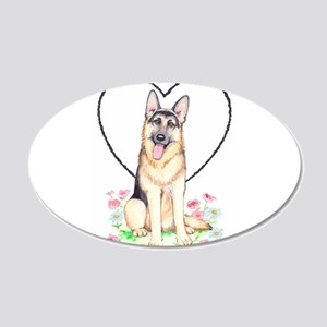 German Shepherd Dog 20x12 Oval Wall Decal