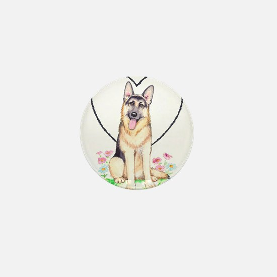 German Shepherd Dog Mini Button