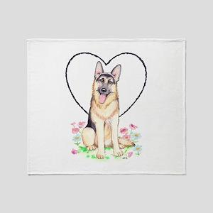 German Shepherd Dog Throw Blanket