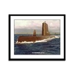 USS GREENFISH Framed Panel Print