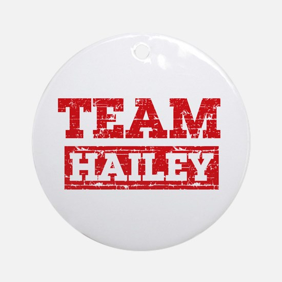 Team Hailey Ornament (Round)