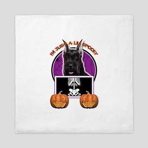 Halloween Just a Lil Spooky Schnauzer Queen Duvet