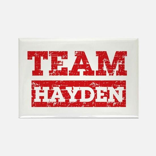 Team Hayden Rectangle Magnet