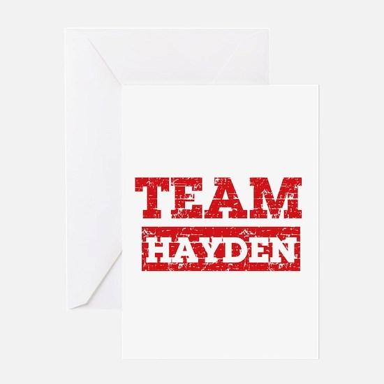 Team Hayden Greeting Card