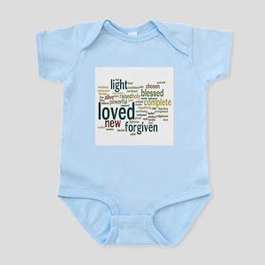 Who I am in Christ Teal Infant Bodysuit