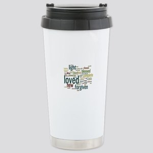 Who I am in Christ Teal Stainless Steel Travel Mug