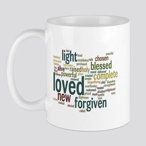 Who I am in Christ Teal Mug