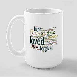 Who I am in Christ Teal Large Mug
